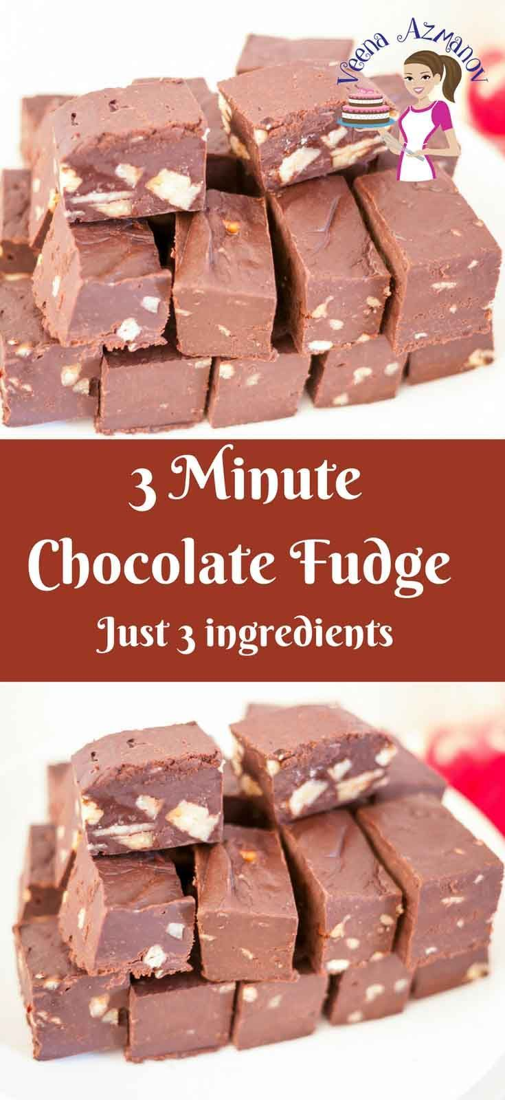 This 3 Minute Dark Chocolate Fudge Recipe Is A Great Treat To Have Any Time Of The Day A Chocolate Dessert Recipes Dark Chocolate Fudge Recipe Dessert Recipes