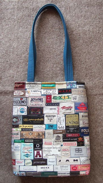 Label Bag Upcycled Bag Creative Bag Fabric Bags