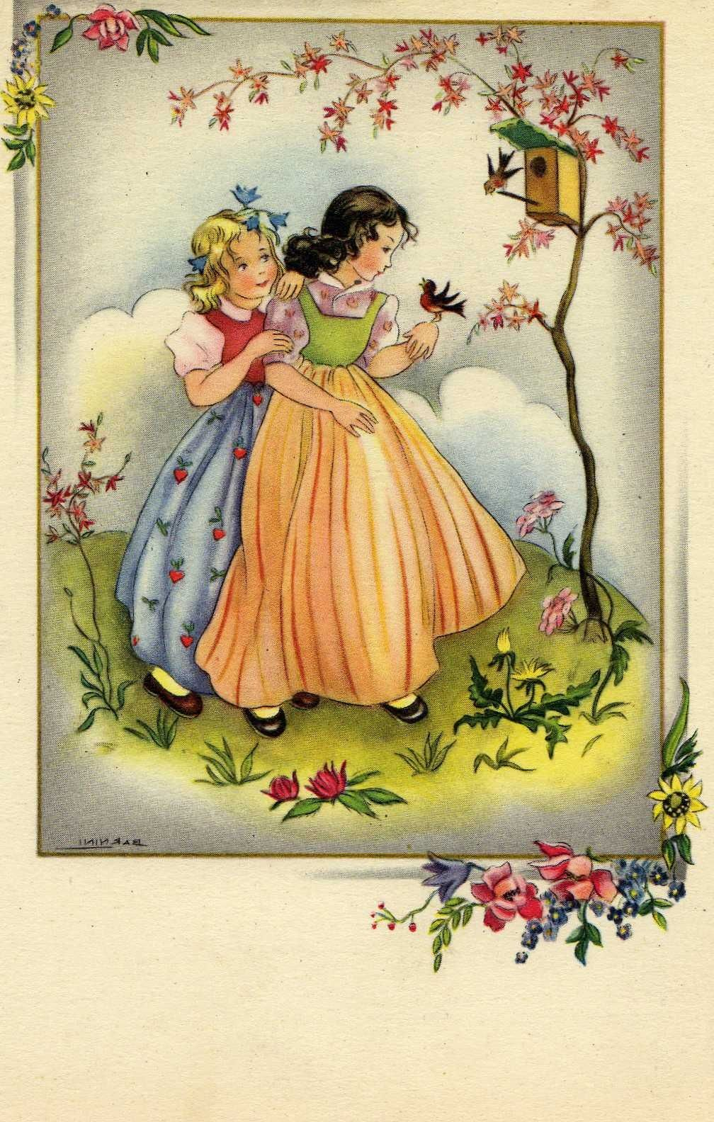miss jane spring amp easter vintage cards paques