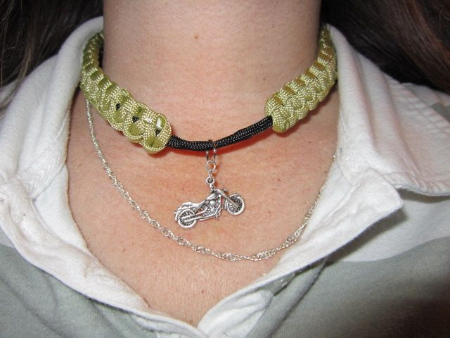 another paracord necklace with charm