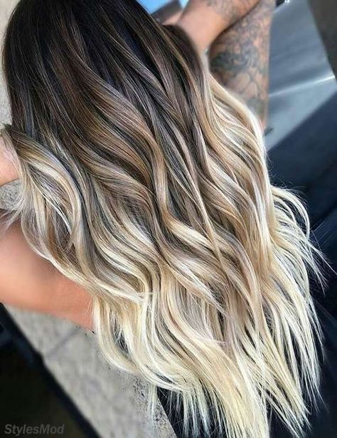 Amazing Balayage Hair Colors and Dark Roots in 2020