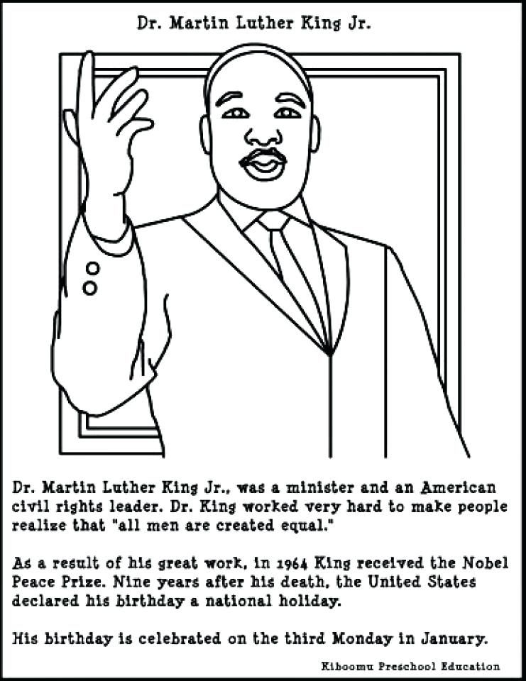 Martin Luther King Coloring Pages Free Martin King Jr Coloring Pages For Preschoolers Colouri Dr Martin Luther King Dr Martin Luther King Jr Martin Luther King