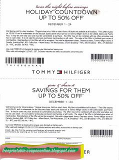 sign up for tommy hilfiger coupons