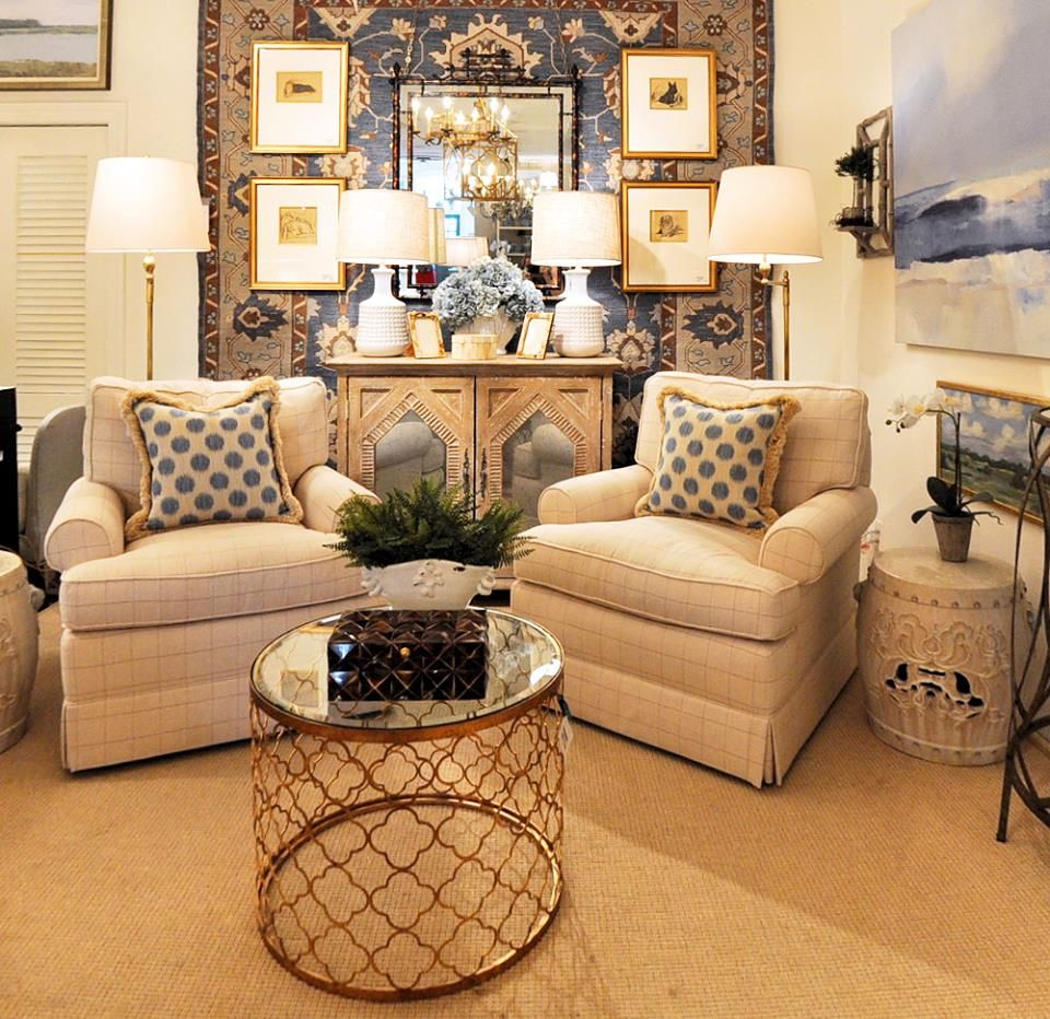 Elegant #livingroom #furniture #blue #pillows @kelloggfurn Richmond, Va Part 30