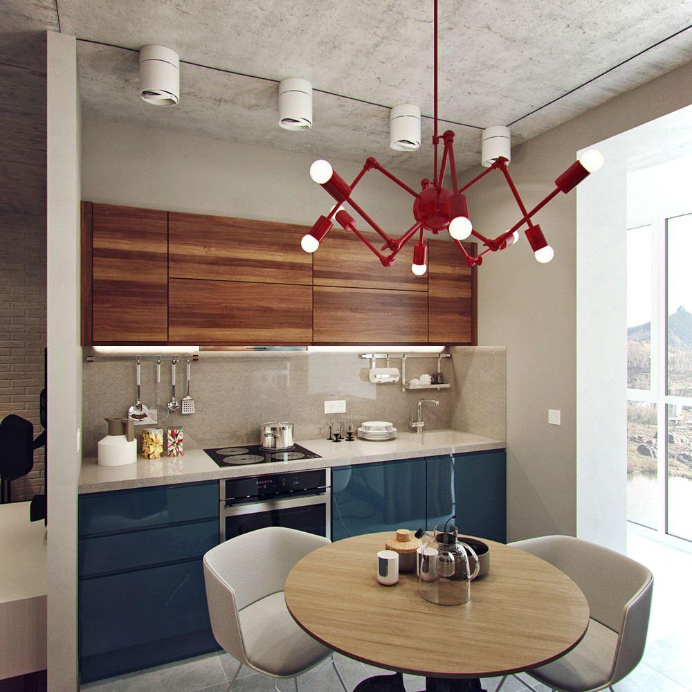 Casinha Colorida Inspira Es Cozinhas Em Madeira Dinner Room  -> Lustre Para Sala De Jantar Vermelho