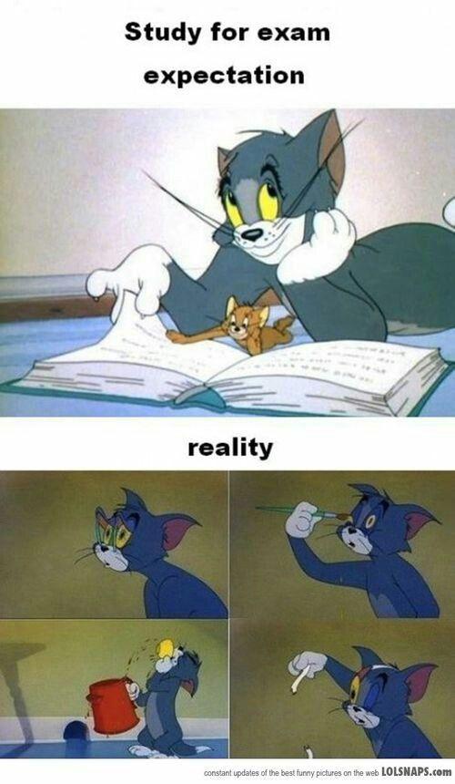 Exams = stress = dood voordat het voorbij is