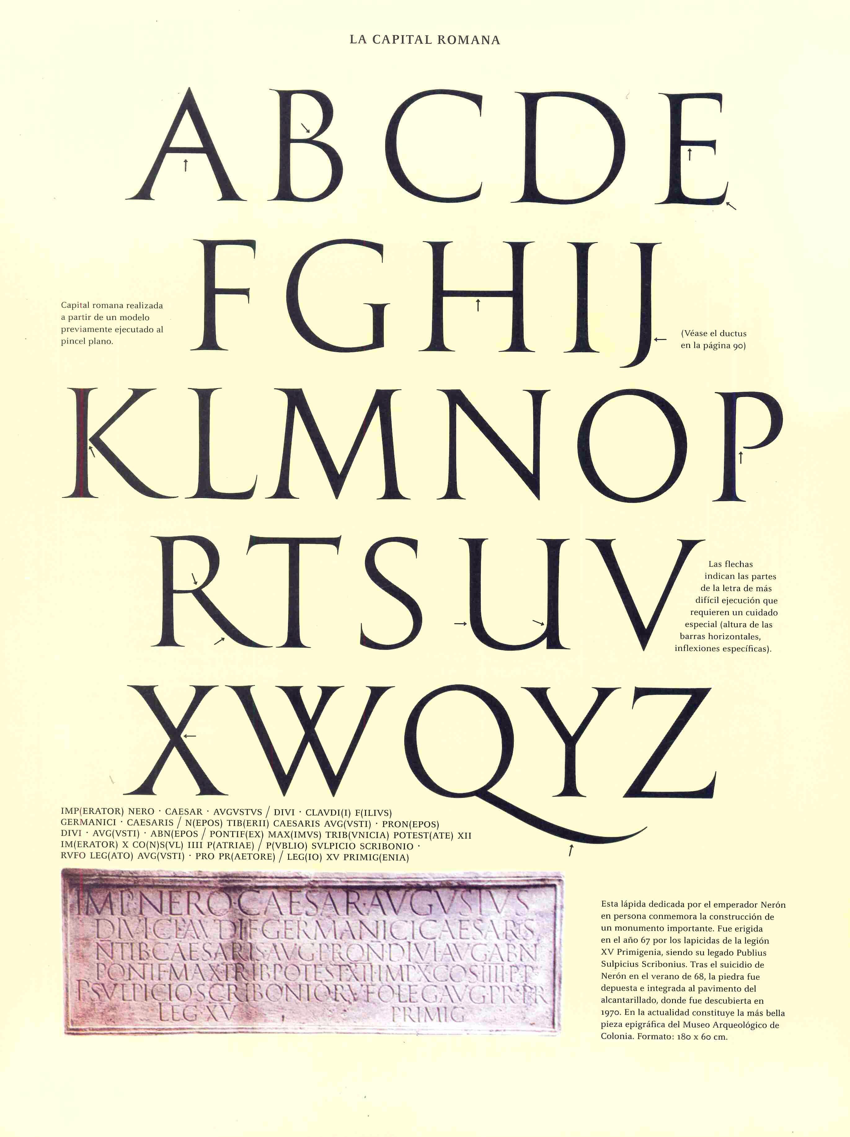 Caligrafia Capital Romana Letras Romanas Letra Gotica Caligrafia