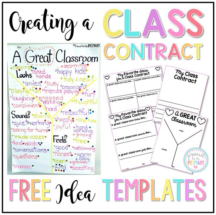 Creating A Class Contract  Classroom Contract Students And