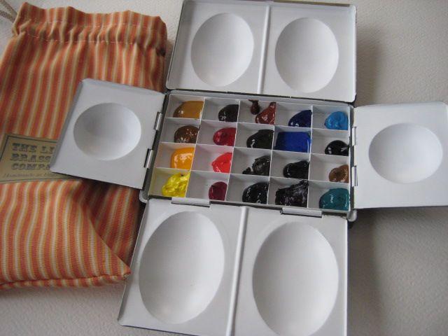 Lightweight Metal Tin Watercolour Boxes Art Supplies Metal Tins