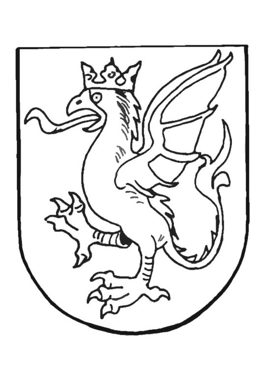 Coloring Page Coat Of Arms Img 9082 Coloring Pages Abc Coloring Pages Coat Of Arms