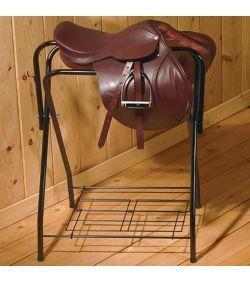 Folding Saddle Stand Black