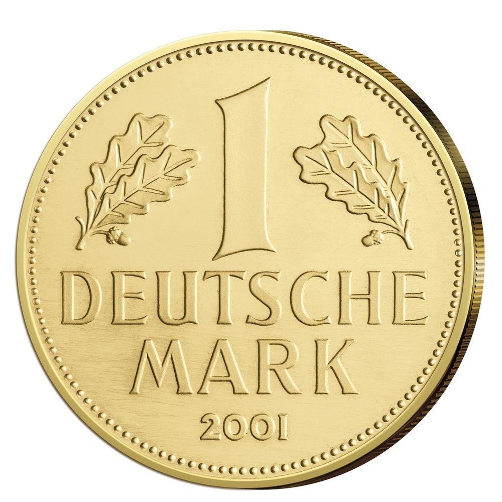 Goldmünze 1DM Gold 2001 Goldmark Deutsche Bundesbank
