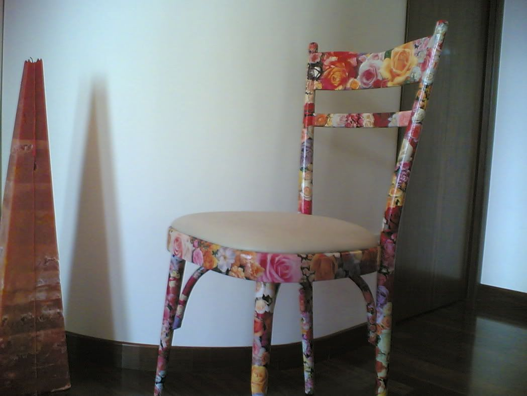 Sedie Decoupage ~ Decoupage una sedia con fumetti home decoupage