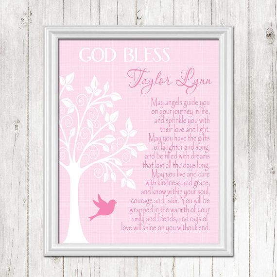 Baptism gift pink christening gift personalized baby gift baptism gift pink christening gift personalized baby gift dedication gift gift for negle Image collections