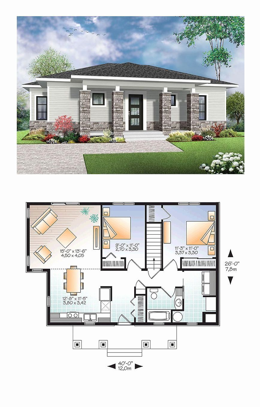 Bloxburg 3 Story Modern House Inspirational Modern Style House Plan With 2 Bed 1 Bath In 2020 Modern Style House Plans House Layout Plans Sims House Plans