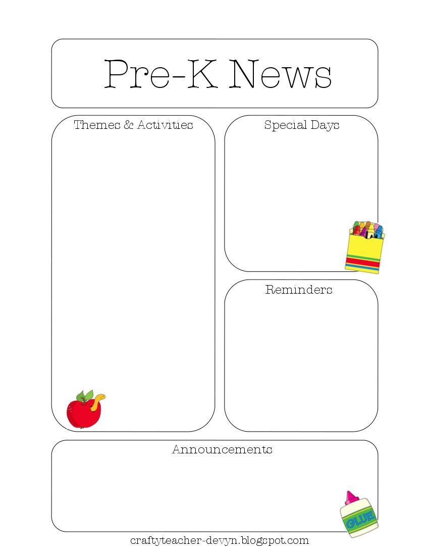newsletter templates kids crafts pinterest newsletter