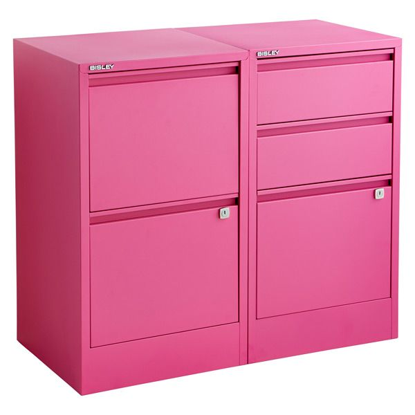 Pink Bisley File Cabinets From The Container Home Office Storage Files