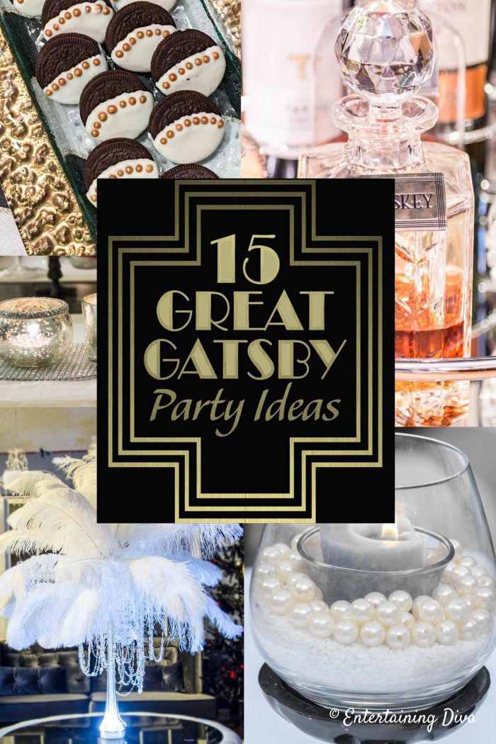 15+ Fun and Fancy Great Gatsby Party Decor Ideas ...