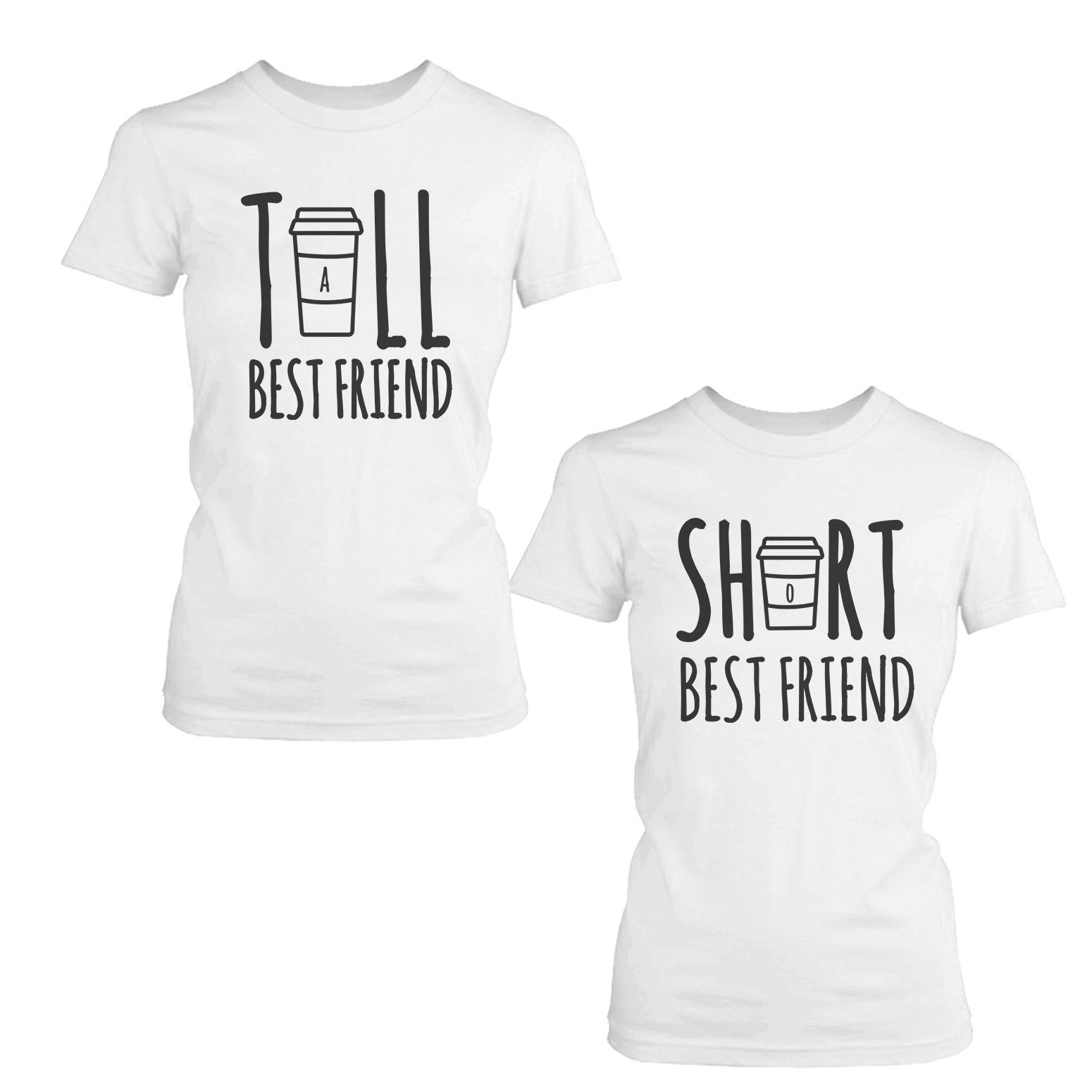 Cute Best Friend Tall and Short Matching TShirt BFF Shirt For