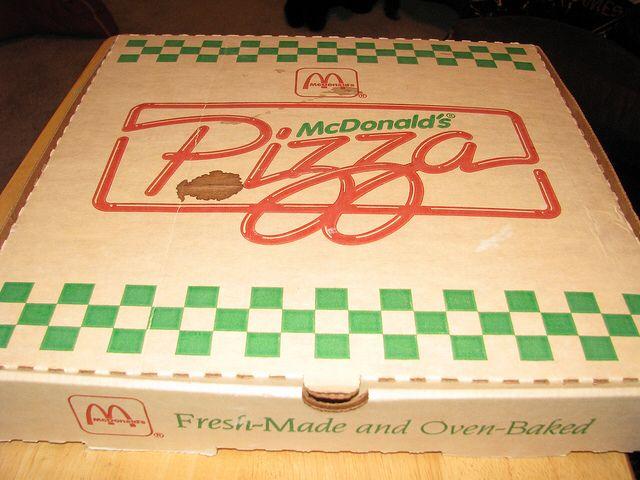 McDonald's Pizza Box