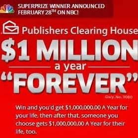 Publishing Clearing House Winner One Million Dollars a Year | pch