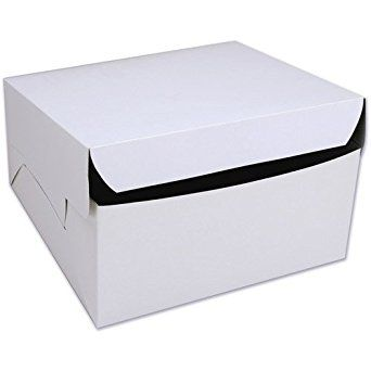 Amazon Com Cakesupplyshop 8 X 8 X 4 White Cake Bakery Box 10 Bundle Industrial Scientific Box Cake Wilton Cakes Wilton
