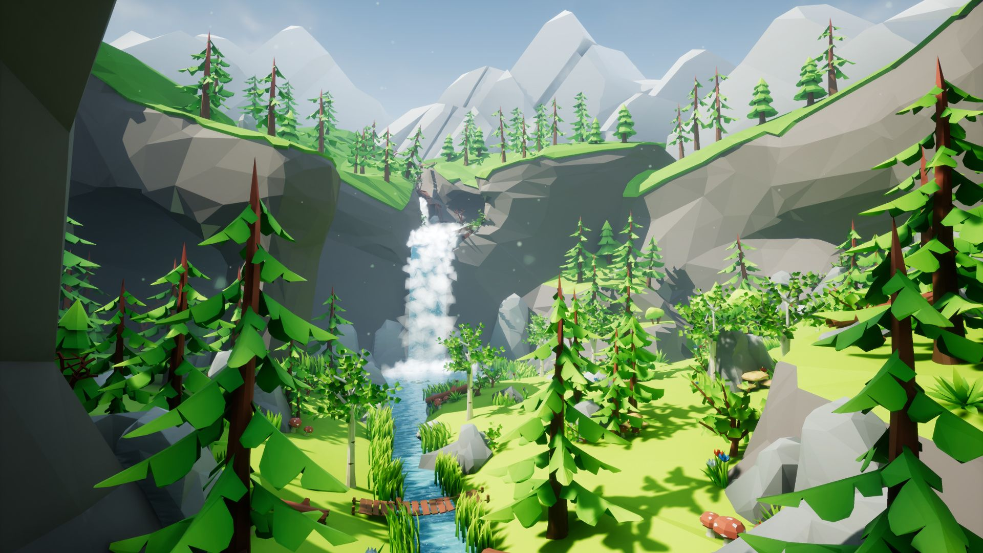 Lowpoly Style Forest Pack by CH Assets in Environments - UE4