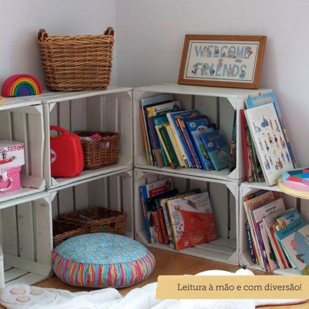 Como criar um cantinho da leitura para crian a leitura for Sala de estar infantil