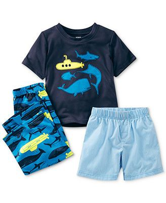790d23f572ab Carter s Toddler Boys  3-Piece Whale Pajamas
