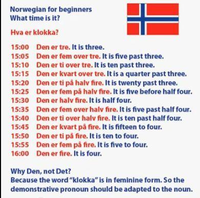 norsk language