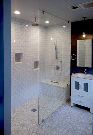Frameless Glass Shower Panel In 2019 Bathroom Shower
