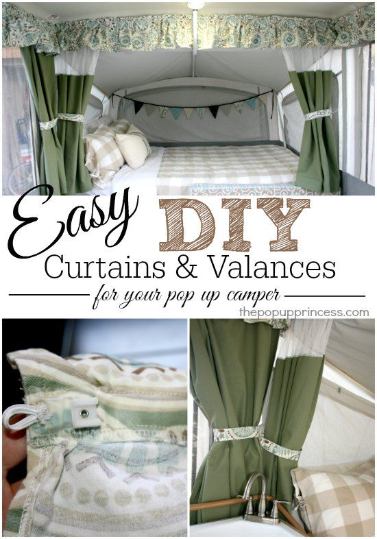 How to Make Your Own Pop Up Camper Curtains  Some great tips and tricks for. How To Renovate A Pop Up Trailer For Under  100   Chalkboard table
