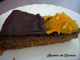 rezetas de carmen: Tarta de chocolate y naranja