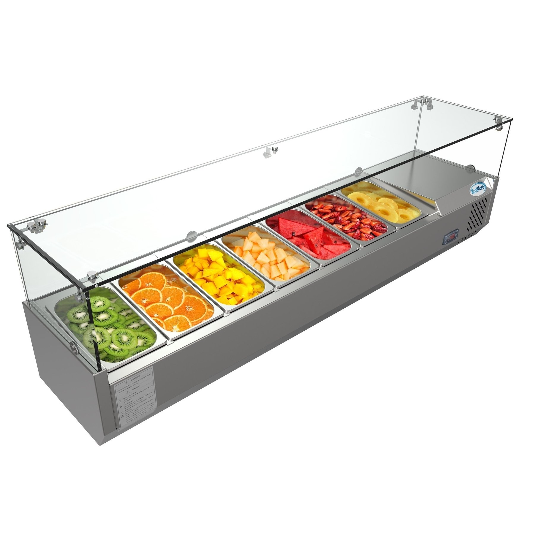 Koolmore 59 Countertop Condiment Refrigerated Prep Station With