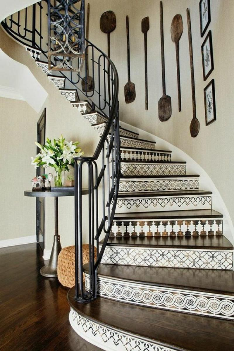 Best Decorative Stair Risers Wood Stair Treads Decorative Tile 640 x 480