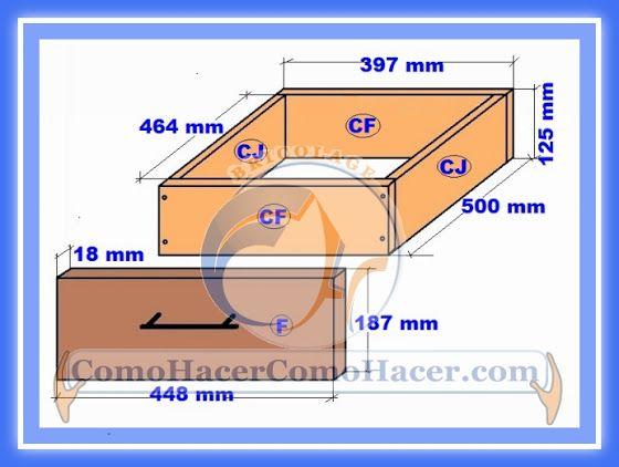Muebles cocina plano mueble bajo web del bricolaje for Plano escritorio melamina