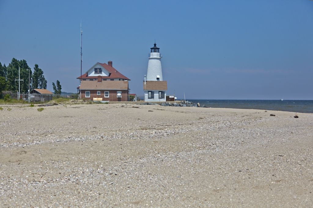 Cove Point Beach And Lighthouse By Rod Nasbe Photography Southernmaryland