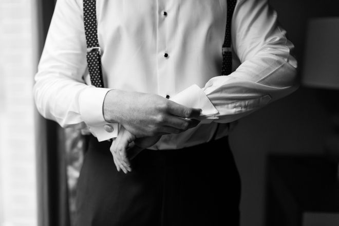 Black and White Grooms Portrait for Rye NY Wedding Photo by Jessica Haley