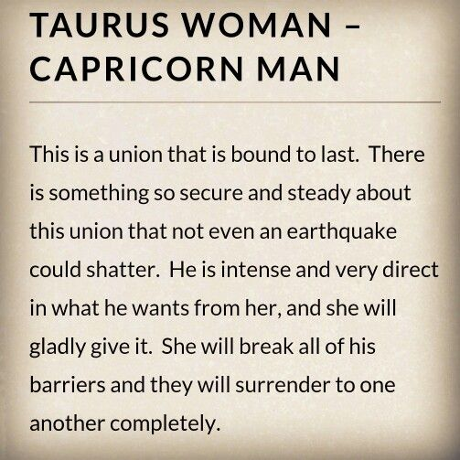 Capricorn man taurus woman sexually images 21