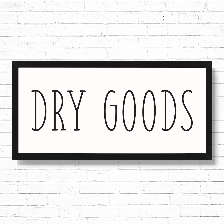 Dry Goods Kitchen Decor Art Print Printed 19.75x9