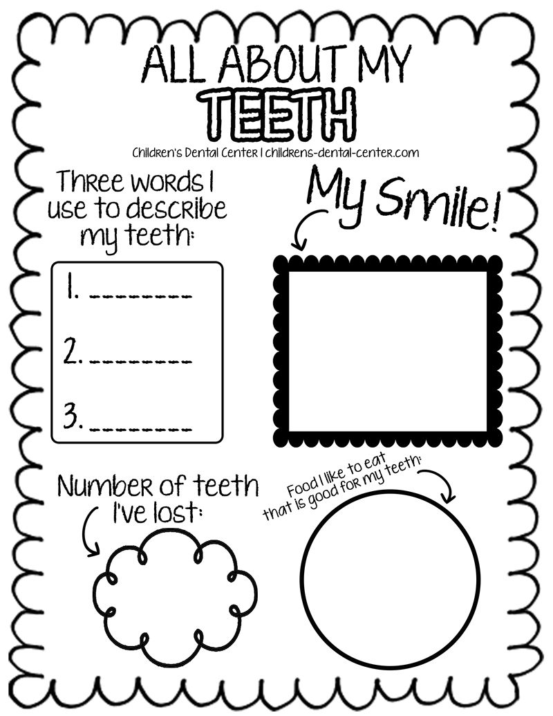 Dental Health Activities Free Dental Dental Health [ 1035 x 800 Pixel ]