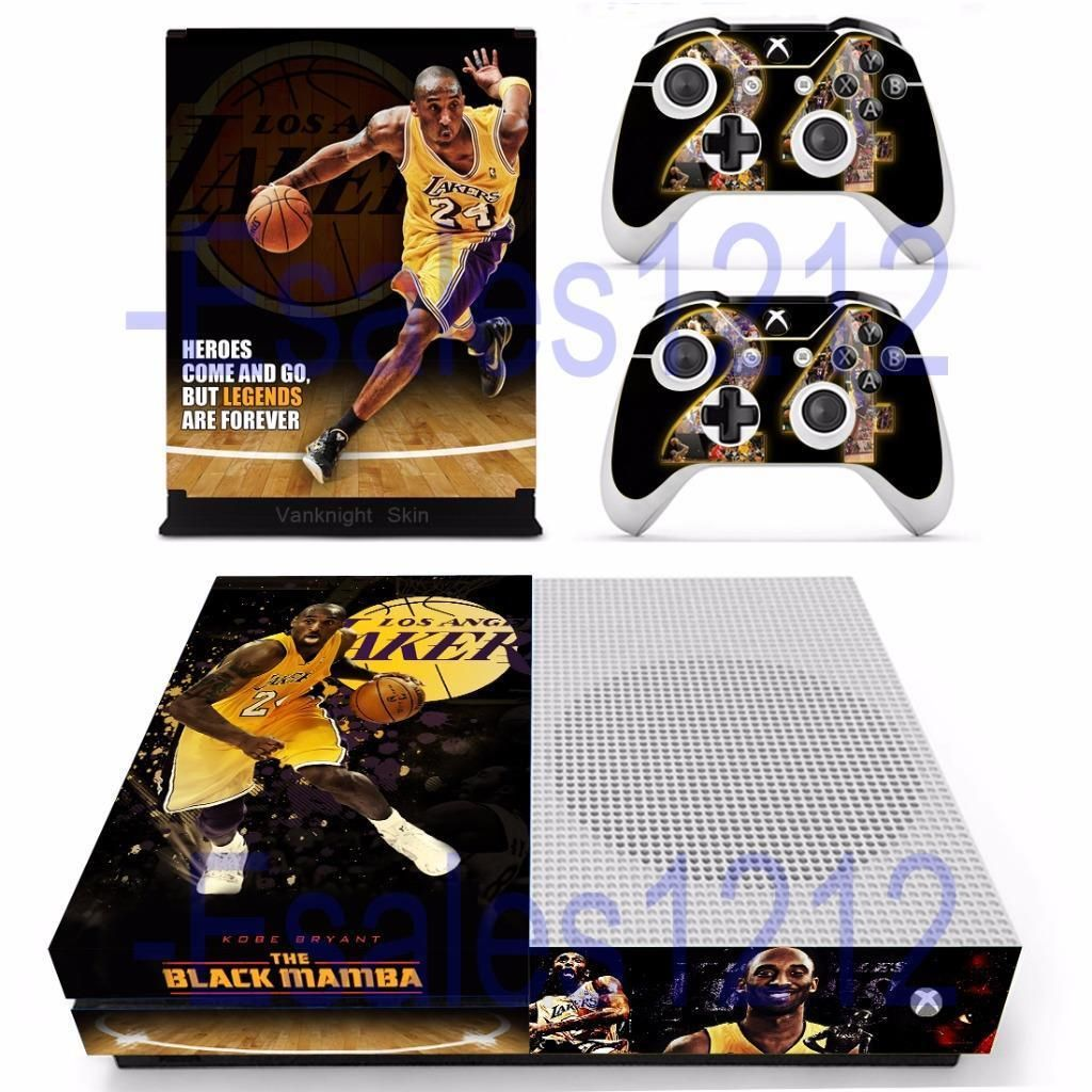 Nba Kobe Bryant Lakers Vinyl Skin Decals Stickers For Xbox