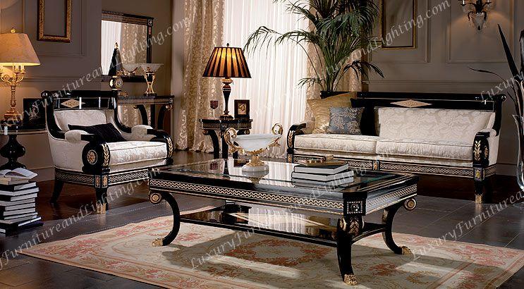 Atemberaubende Luxus Wohnzimmer Sets, Italienische Möbel, Klassische ...