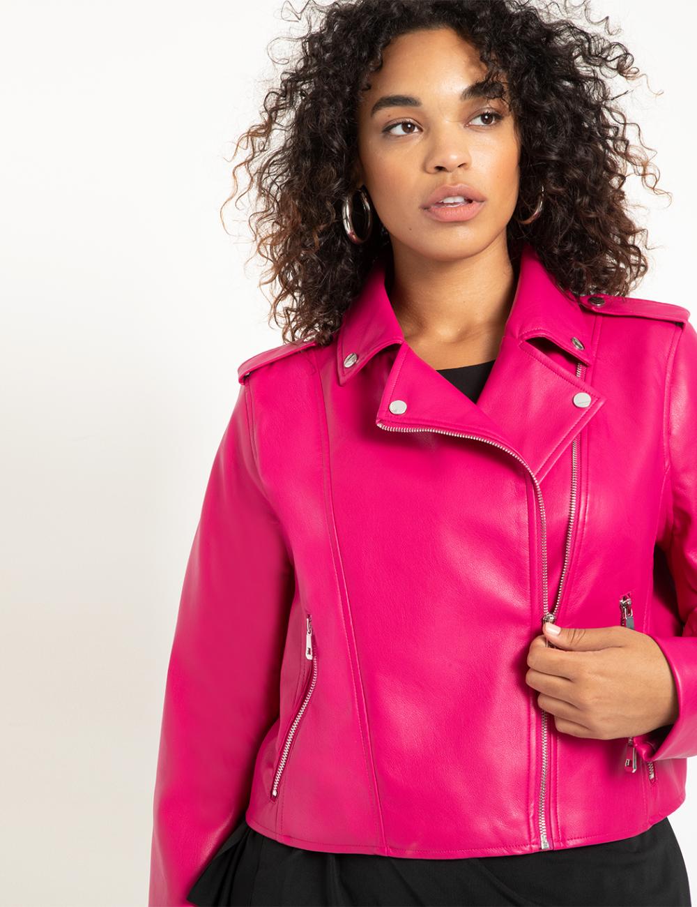 Faux Leather Moto Jacket Women S Plus Size Coats Jackets Eloquii In 2021 Faux Leather Moto Jacket Best Leather Jackets Celebrities Leather Jacket [ 1300 x 1000 Pixel ]