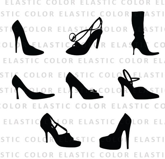 d668e1c7d60 High heels svg - high heels clipart - shoes vector files clip art - heel  silhouette digital download
