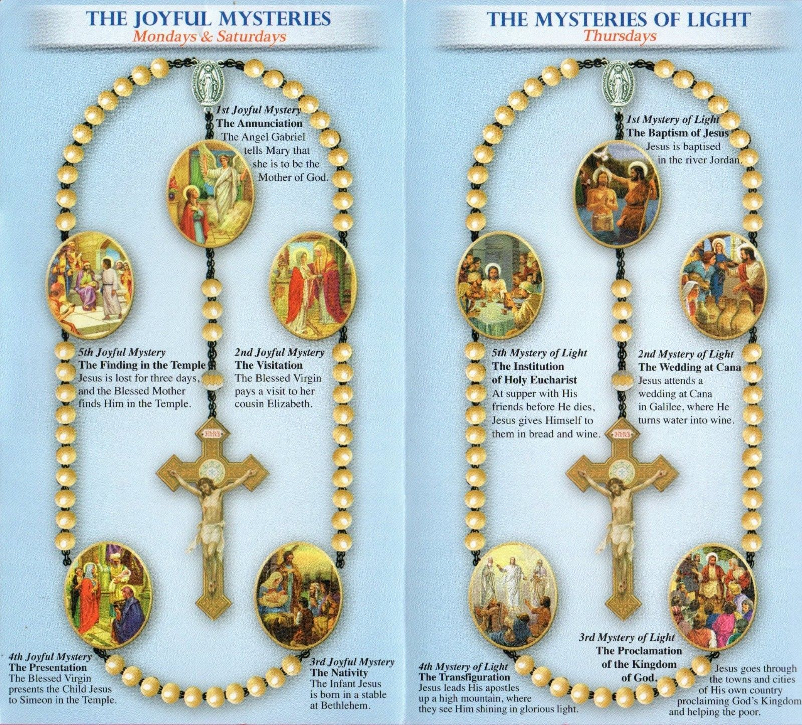 Details about Pray the Rosary Pamphlet Includes All 4