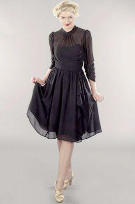 jolie petite robe noire de soir e de c r monie mode femme chic look inspiration r tro vintage. Black Bedroom Furniture Sets. Home Design Ideas