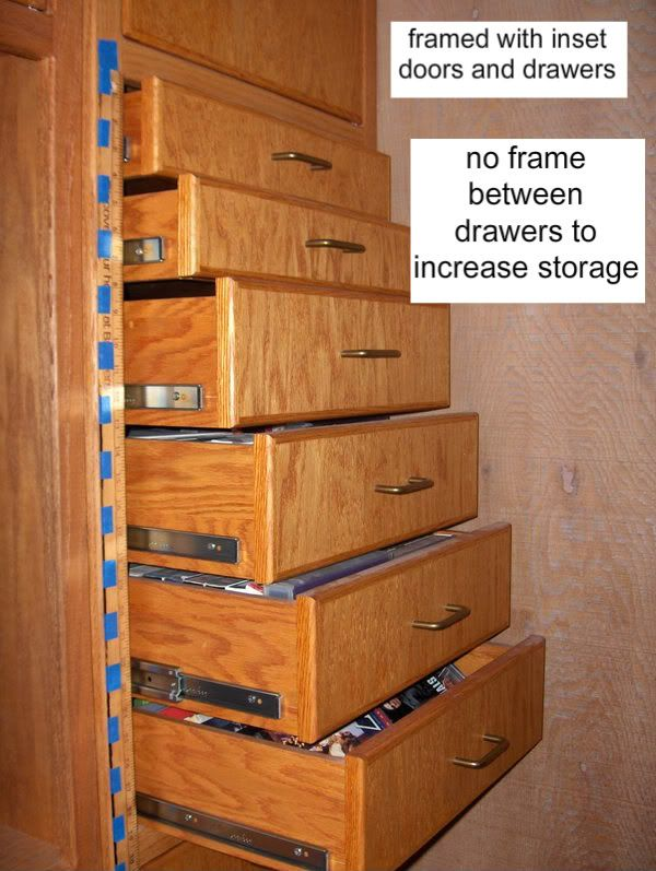 Converting Cabinets To Drawers Framed