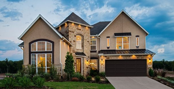 Stucco Exterior Designs hou_riverstone_5327_ext_w-garage_v2.mxw605.mxh311 605×311