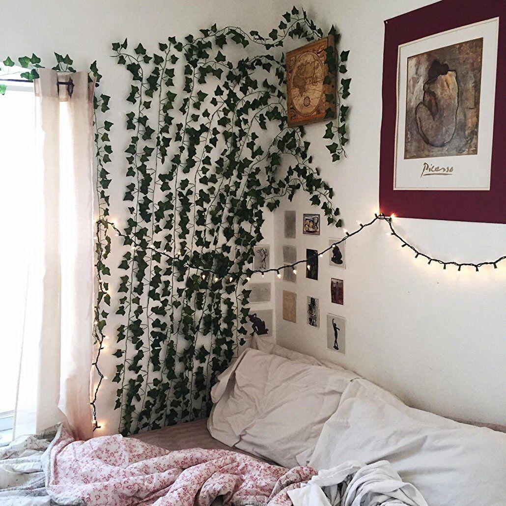 Fake Ivy Vine artificial Plant Flowes Vine 84ft12strands ... on Vine Decor Ideas  id=96655